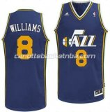 canotta deron williams #8 utah jazz revolution 30 blu