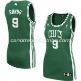 canotta basket donna boston celtics rajon rondo #9 verde