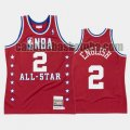 canotta Uomo basket Denver Nuggets Rosso Alex English 2 All Star 1988