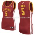 canotta basket donna jr smith #5 cleveland cavaliers rosso