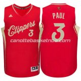 maglia chris paul #3 los angeles clippers natale 2015 rosso