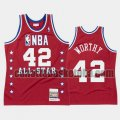 canotta Uomo basket Los Angeles Lakers Rosso James Worthy 42 All Star 1988
