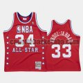canotta Uomo basket Los Angeles Lakers Rosso Kareem Abduljabbar 34 All Star 1988