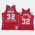 canotta Uomo basket Los Angeles Lakers Rosso Magic Johnson 32 All Star 1988