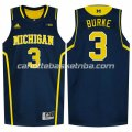 canotte ncaa michigan wolverines trey burke #3 blu