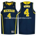 canotte ncaa michigan wolverines chris webber #4 blu