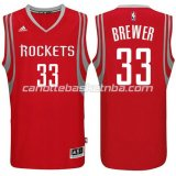 canotta corey brewer #33 houston rockets 2014-2015 rosso