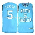 canotte ncaa north carolina tar heels ty lawson #5 blu
