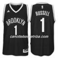 maglia NBA d'angelo russell 1 2017-18 brooklyn nets nero