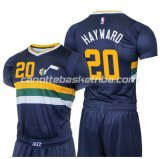 magliette basket gordon hayward 20 utah jazz 2016 blu
