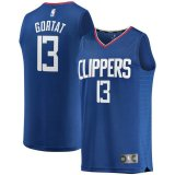 canotta Uomo basket Los Angeles Clippers Blu Marcin Gortat 13 Icon Edition