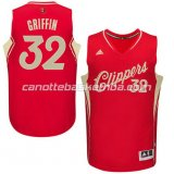 maglia blake griffin #32 los angeles clippers natale 2015 rosso