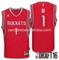 canotta zhou qi 1 houston rockets draft 2016 rosso