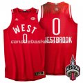 maglia basket russell westbrook #0 nba all star 2016 rosso