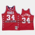 canotta Uomo basket Houston Rockets Rosso Hakeem Olajuwon 34 All Star 1988