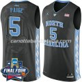 maglie ncaa north carolina tar heels marcus paige #5 nero