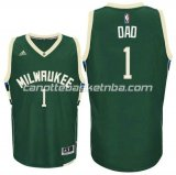 canotte nba milwaukee buck 2016 con dad logo 1 verde