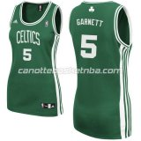 canotta basket donna boston celtics kevin garnett #5 verde