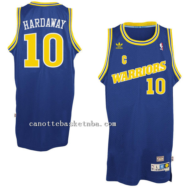 canotta Anfernee Hardaway 10 Retro Golden State Warriors blu