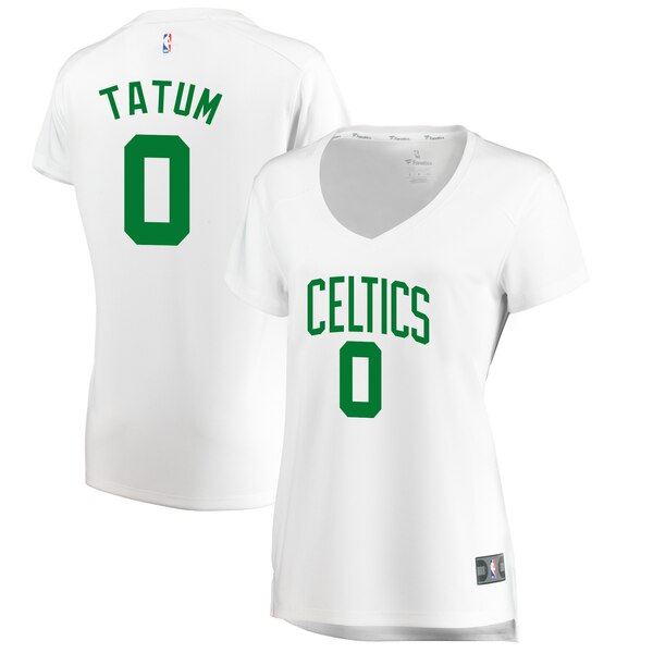canotta basket donna boston celtics Jayson Tatum #0 bianca