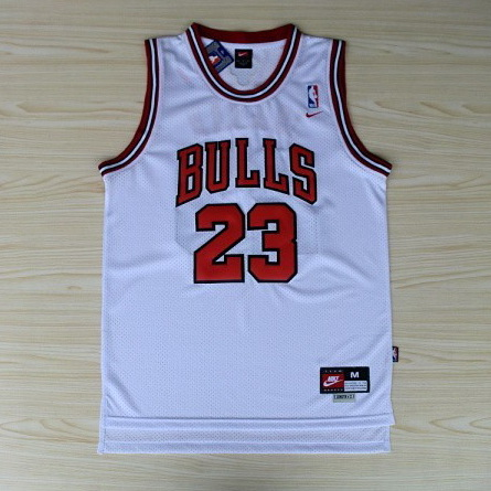 canotta Michael Jordan 23 Retro Chicago Bulls bianco