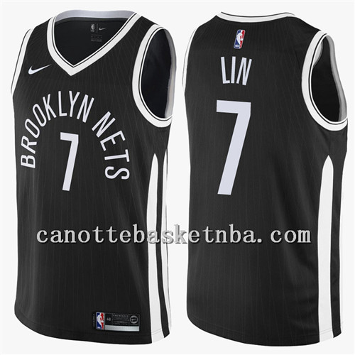 canotta NBA brooklyn nets 2018 jeremy lin 7 nero