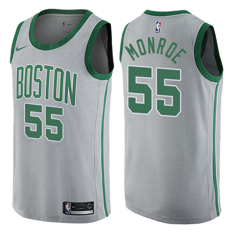 canotta NBA greg monroe 55 2017-2018 boston celtics grigio