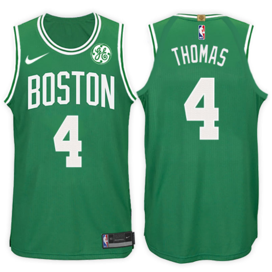 canotta NBA isaiah thomas 4 2017-18 boston celtics verde
