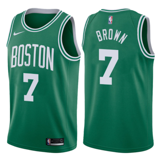 canotta NBA jaylen brown 7 2017-18 boston celtics verde