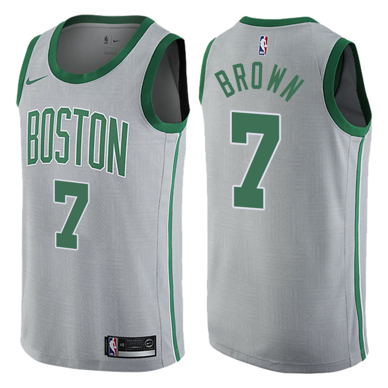 canotta NBA jaylen brown 7 2017-2018 boston celtics grigio