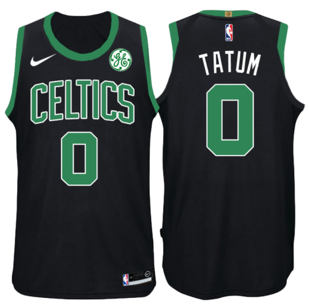 canotta NBA jayson tatum 0 2017-18 boston celtics nero