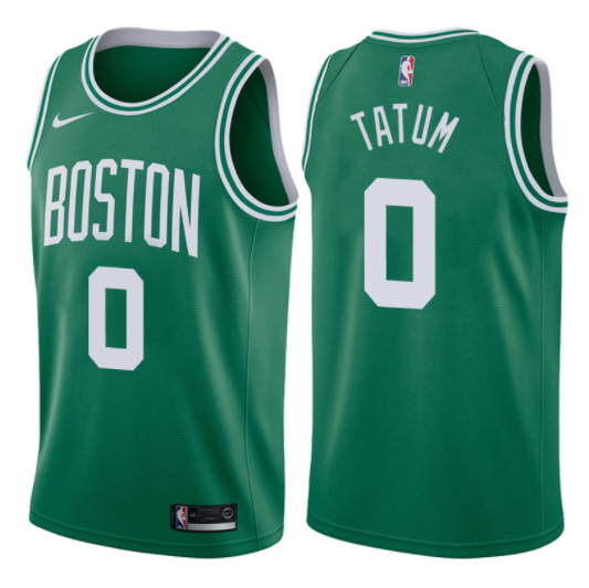 canotta NBA jayson tatum 0 2017-18 boston celtics verde