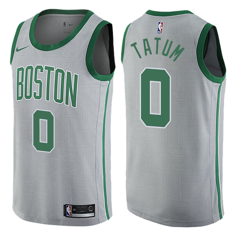canotta NBA jayson tatum 0 2017-2018 boston celtics grigio