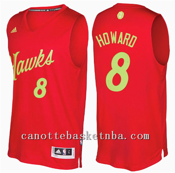 canotta atlanta hawks natale 2016 dwight howard 8 rosso