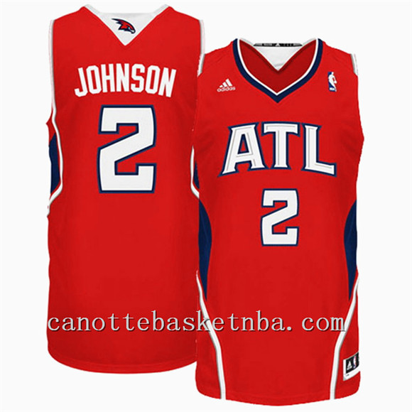 canotta atlanta hawks nba joe johnson 2 rosso