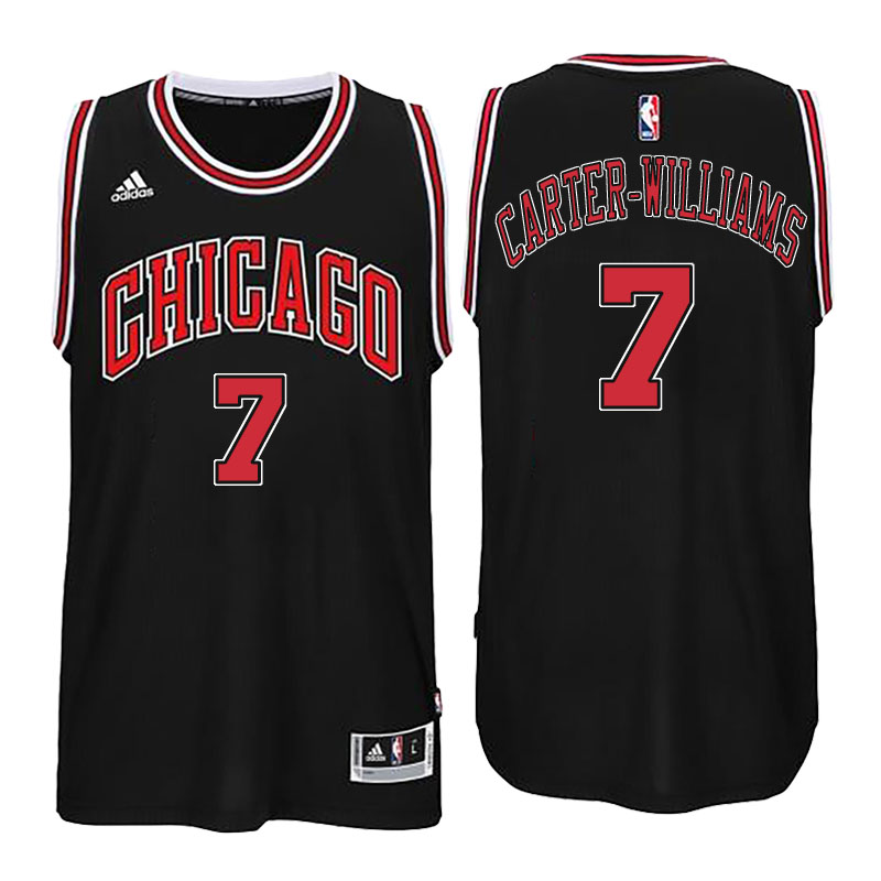 canotta chicago bulls 2016 con Michael Carter Williams 7 nero