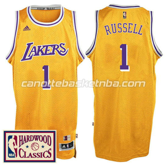 canotta D'Angelo russell 1 los angeles lakers 2016 2017 giallo