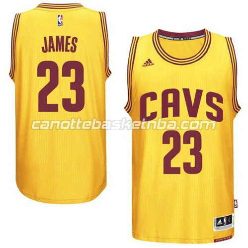 canotta LeBron james #23 cleveland cavaliers 2014-2015 giallo