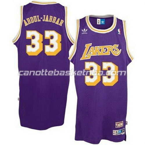 canotte nba abdul-jabbar #33 los angeles lakers porpora