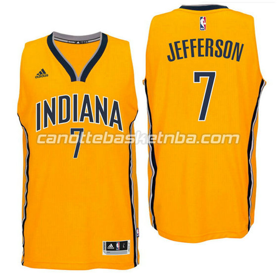 canotta indiana pacers 2016 con al jefferson 7 giallo