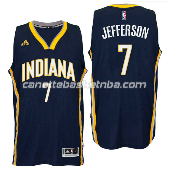 canotte nba al jefferson 7 indiana pacers 2016 navy