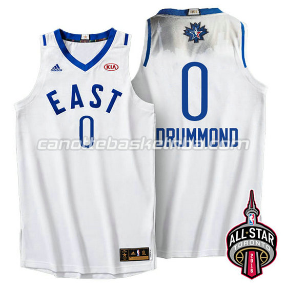 canotta basket andre drummond #0 nba all star 2016 bianca