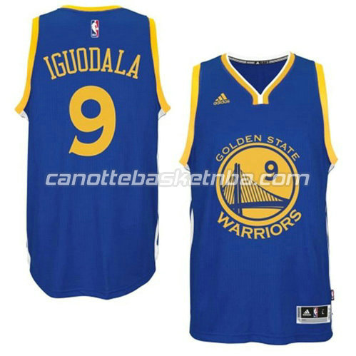 canotta andre iguodala #9 golden state warriors 2014-2015 blu