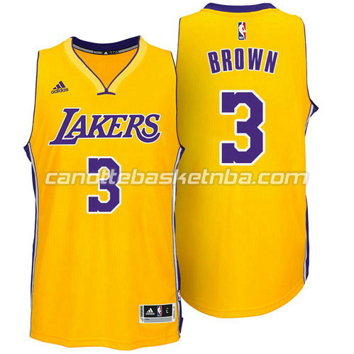 maglie nba anthony brown #3 los angeles lakers giallo
