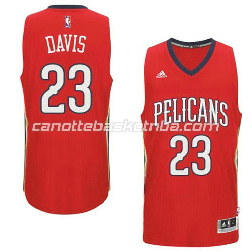 canotta anthony davis #23 new orleans pelicans 2014-2015 rosso
