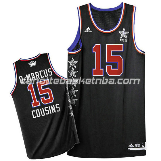 canotta basket DeMarcus cousins #15 nba all star 2015 nero