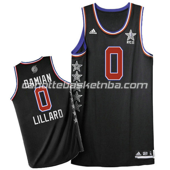 canotta basket damian lillard #0 nba all star 2015 nero