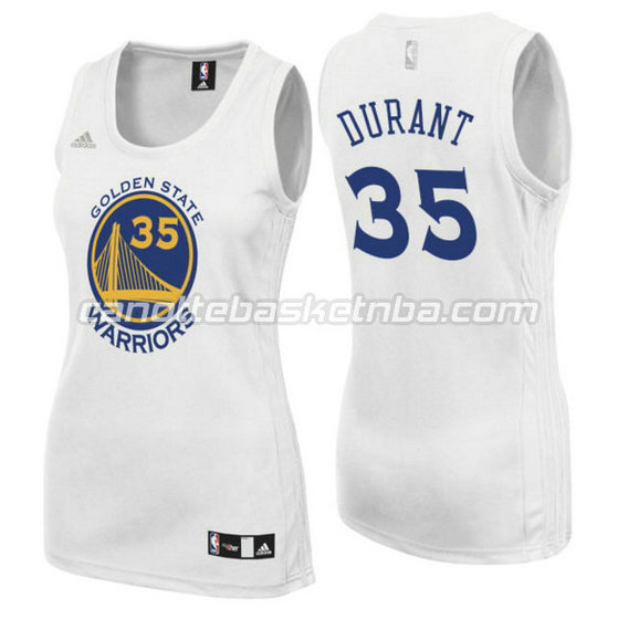 canotta basket donna kevin durant 35 golden state warriors bianca