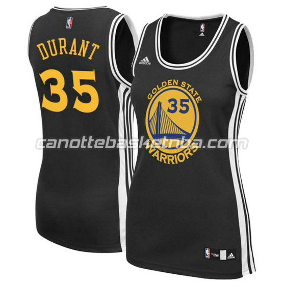 canotta basket donna kevin durant 35 golden state warriors nero
