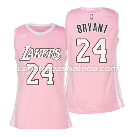 canotta basket donna kobe bryant 24 los angeles lakers rosa